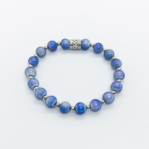 Glass Bead Stretchy Bracelet - B704