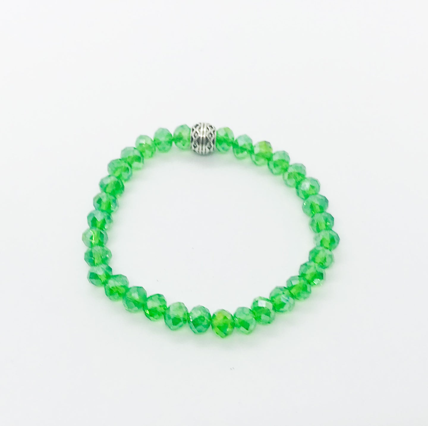 Glass Bead Stretchy Bracelet - B708