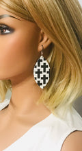 Load image into Gallery viewer, Genuine Leather Cross Earrings - E19-718
