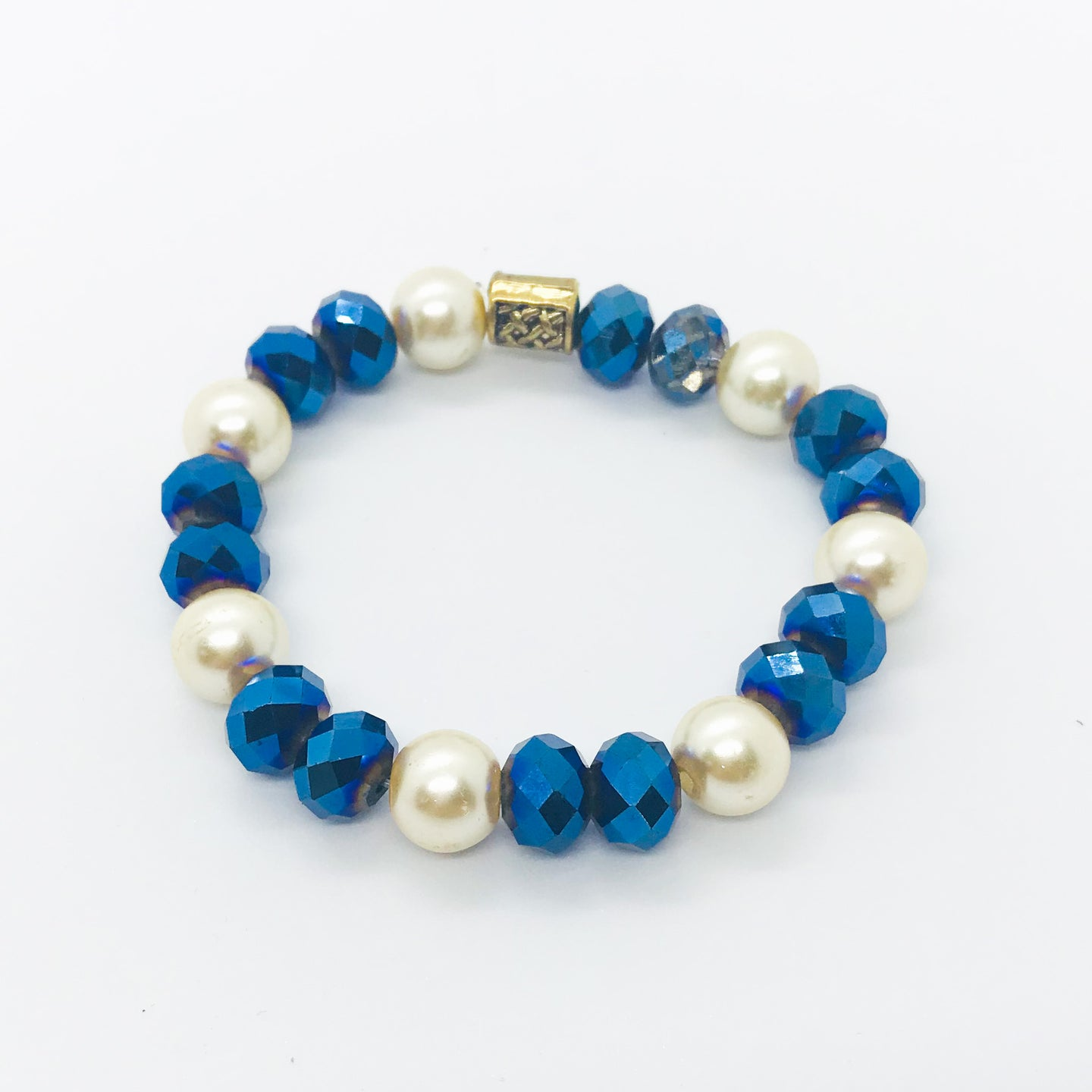 Glass Bead Stretchy Bracelet - B726