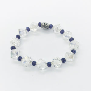 Glass Bead Stretchy Bracelet - B729