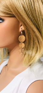 Silver Speckled Cork Earrings - E19-733