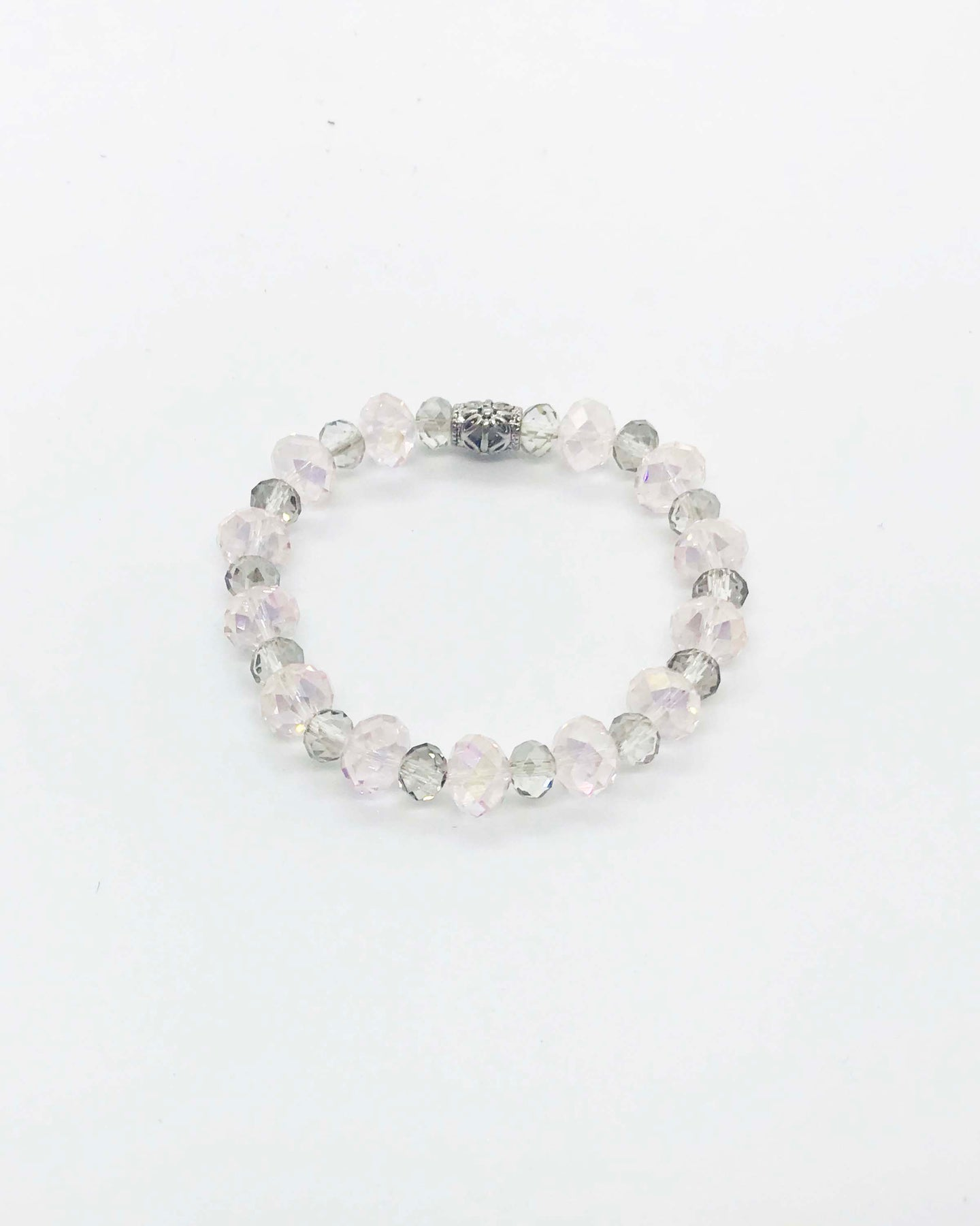 Glass Bead Stretchy Bracelet - B736