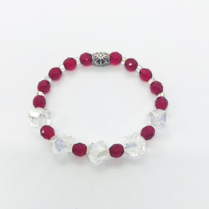 Glass Bead Stretchy Bracelet - B738