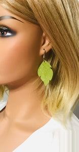 Apple Green Genuine Leather Earrings - E19-742