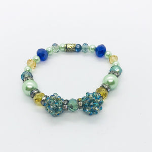 Glass Bead Stretchy Bracelet - B749