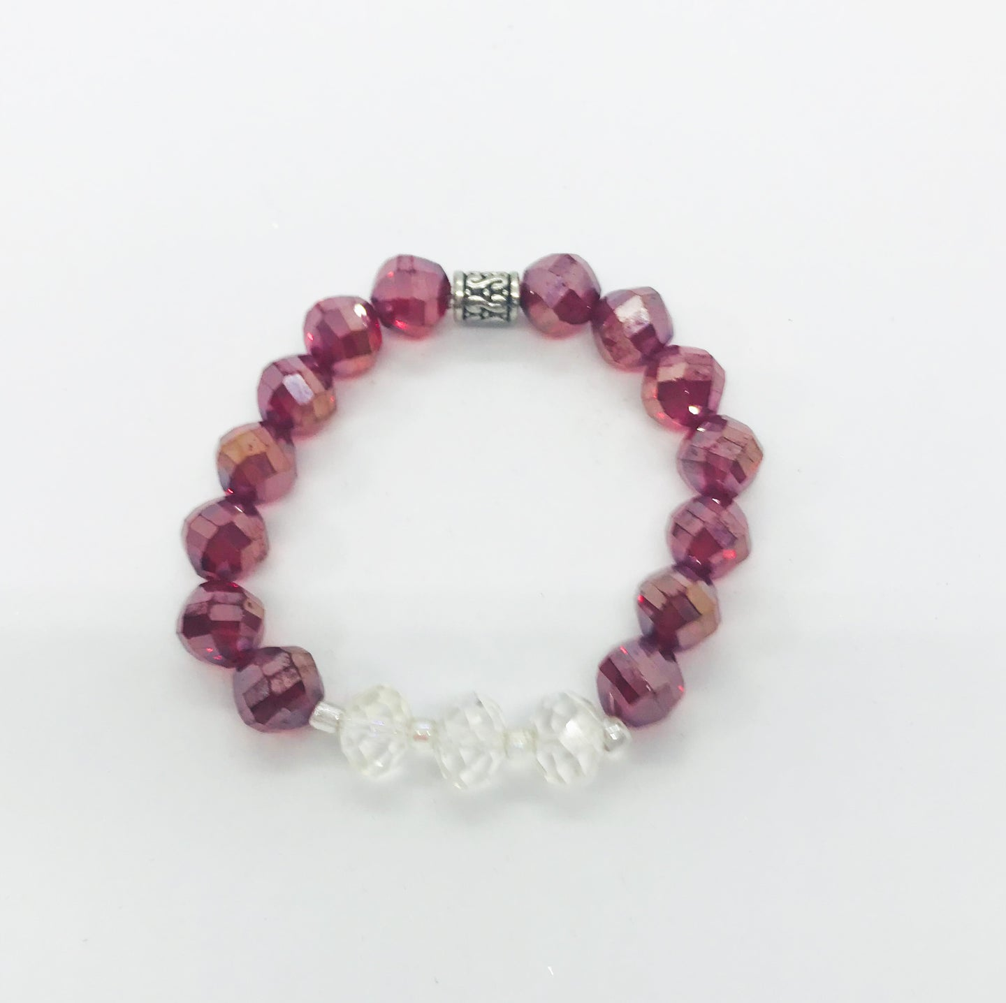 Glass Bead Stretchy Bracelet - B754