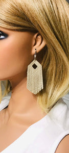 Pearl Light Gold Genuine Leather Earrings - E19-756