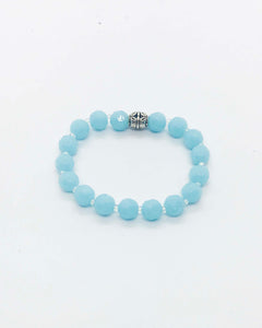 Glass Bead Stretchy Bracelet - B762
