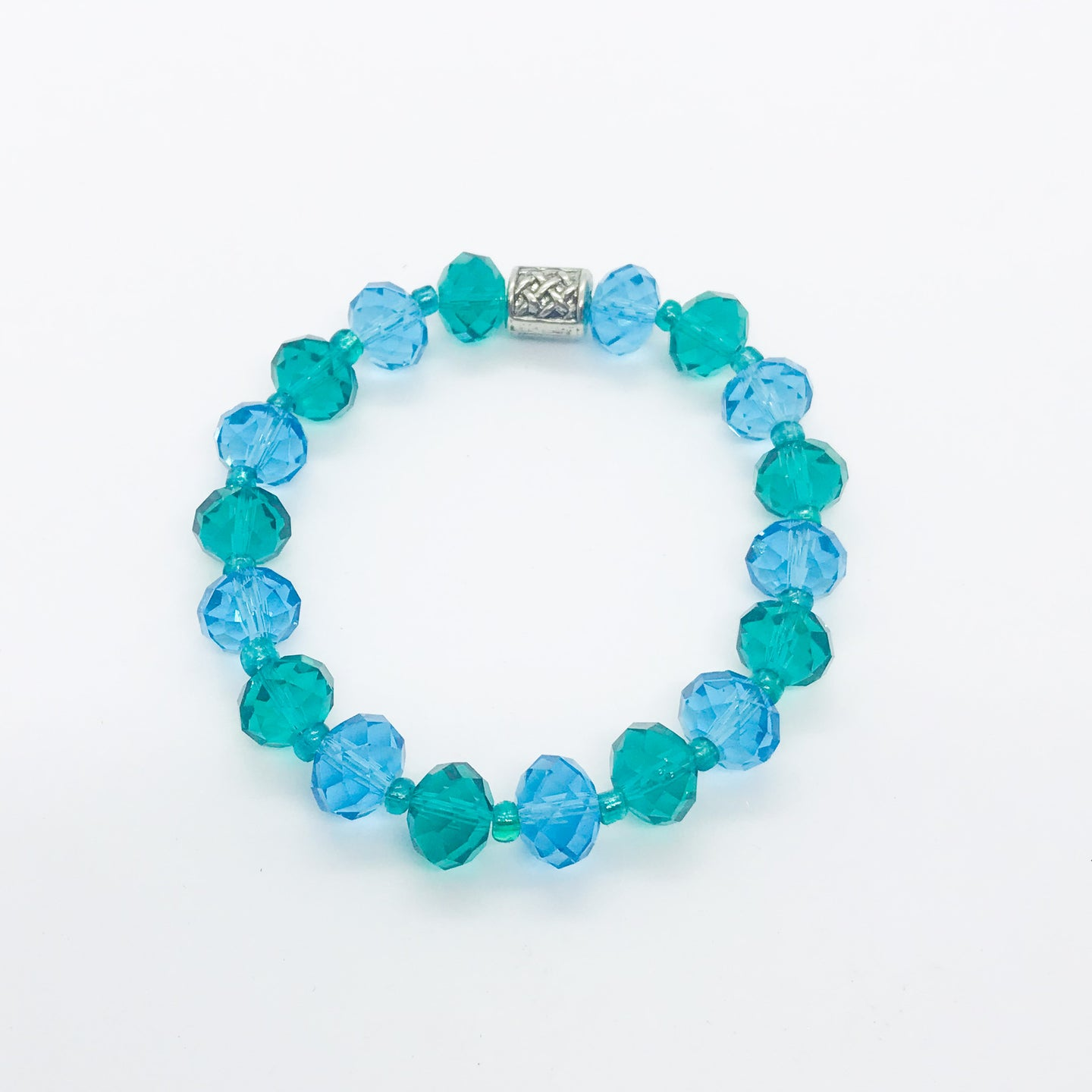 Glass Bead Stretchy Bracelet - B767