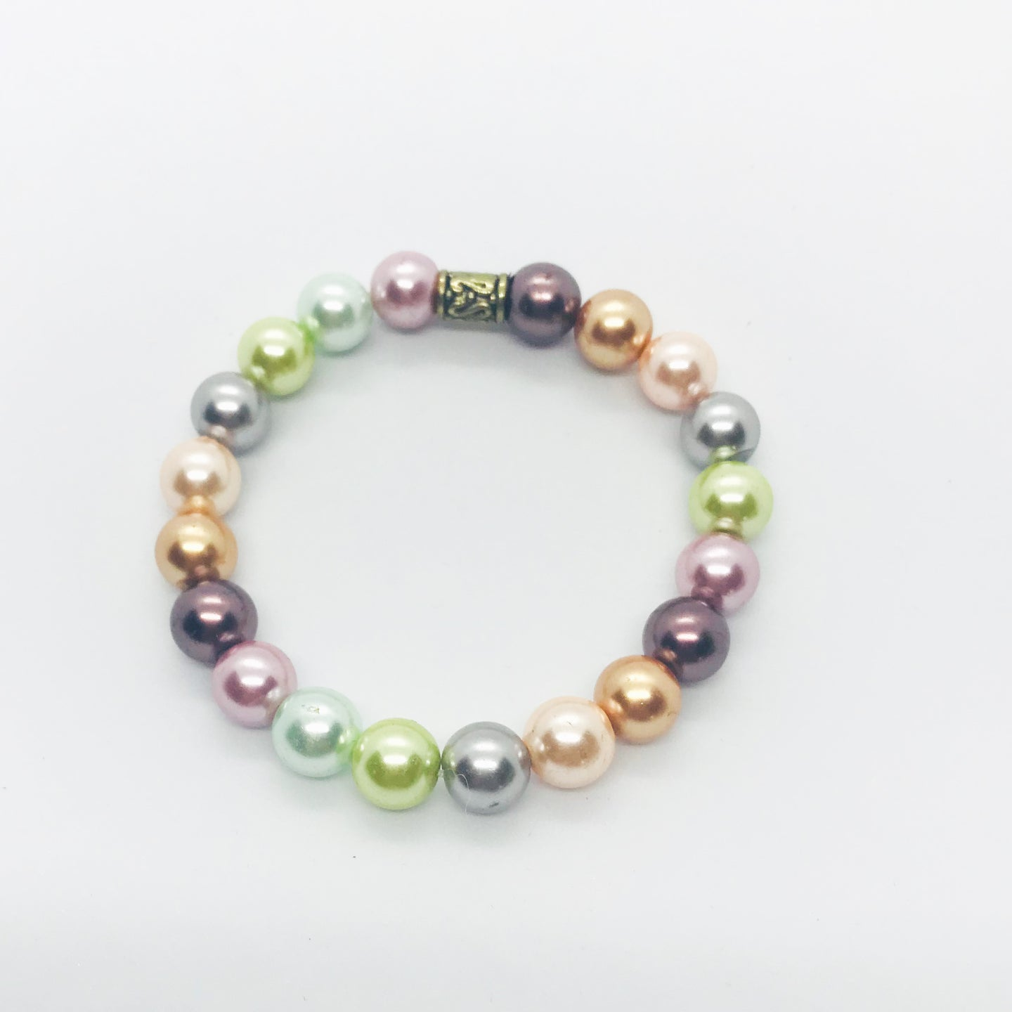 Glass Bead Stretchy Bracelet - B769