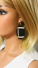 Load image into Gallery viewer, Genuine Brown Leather Football Earrings - E19-777