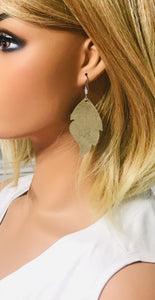 Genuine Platinum Leather Earrings - E19-779