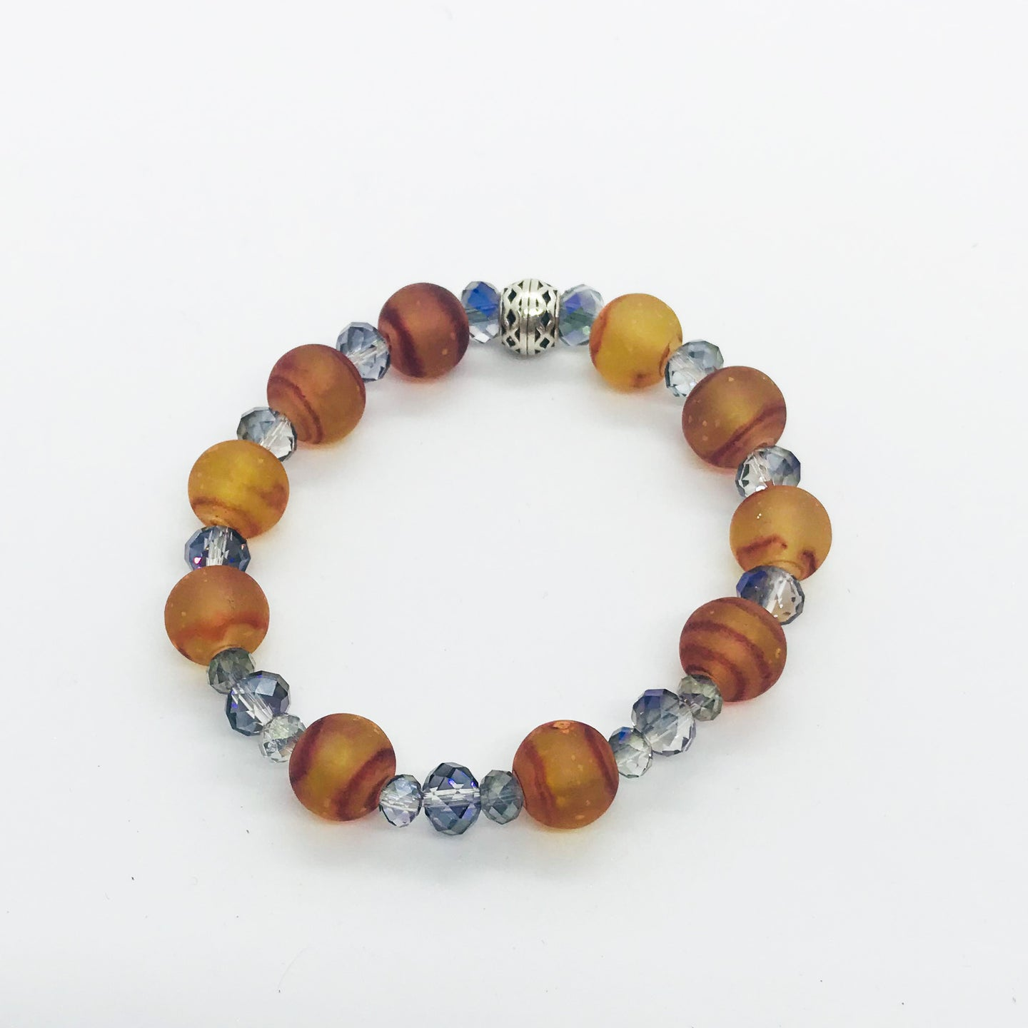 Glass Bead Stretchy Bracelet - B792