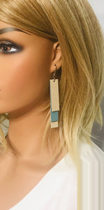 Genuine Suede and Leather Earrings - E19-796