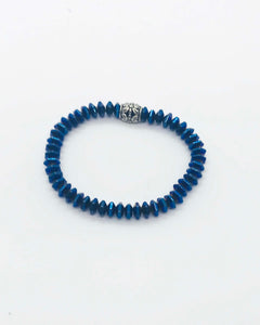 Glass Bead Stretchy Bracelet - B797