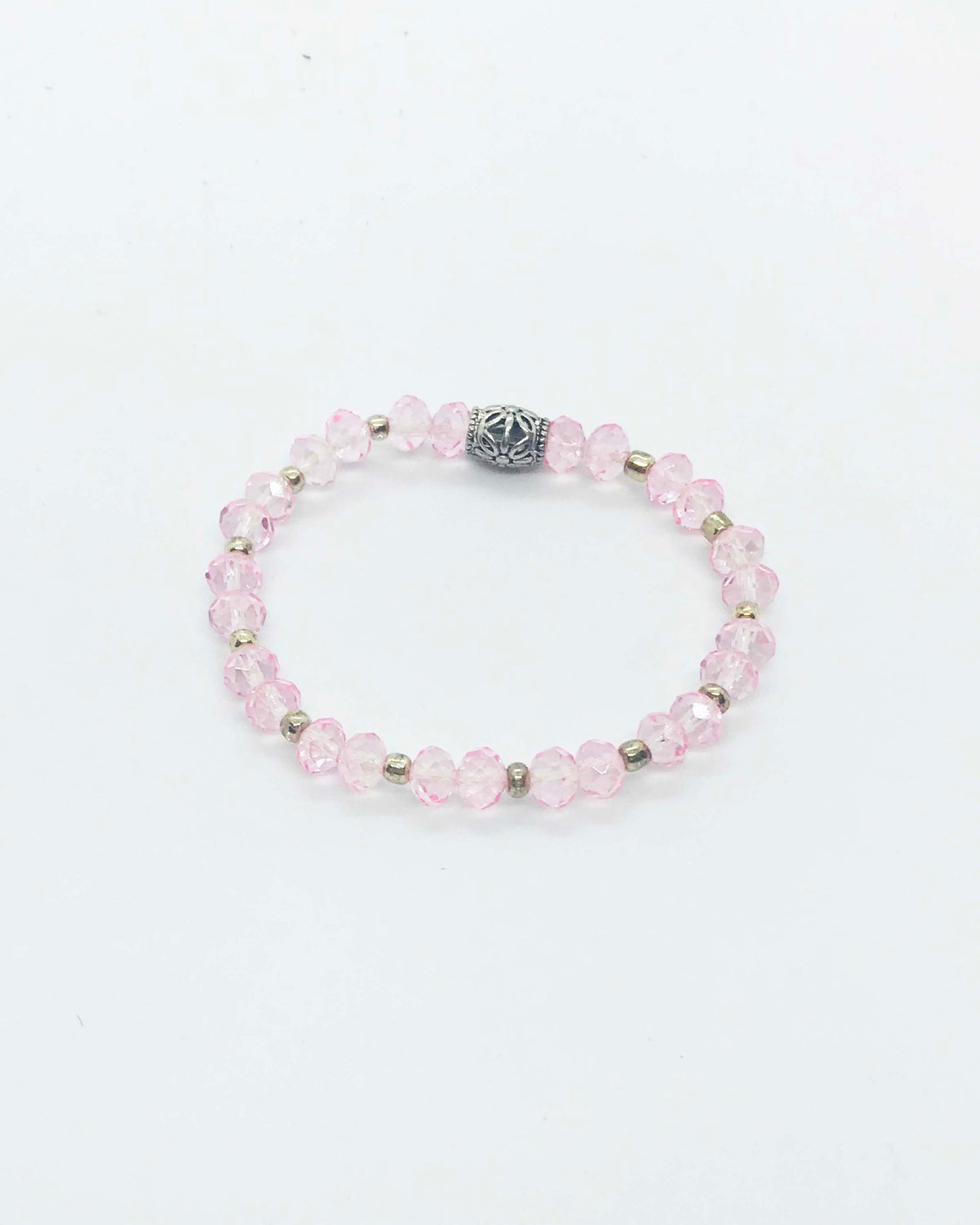 Glass Bead Stretchy Bracelet - B815