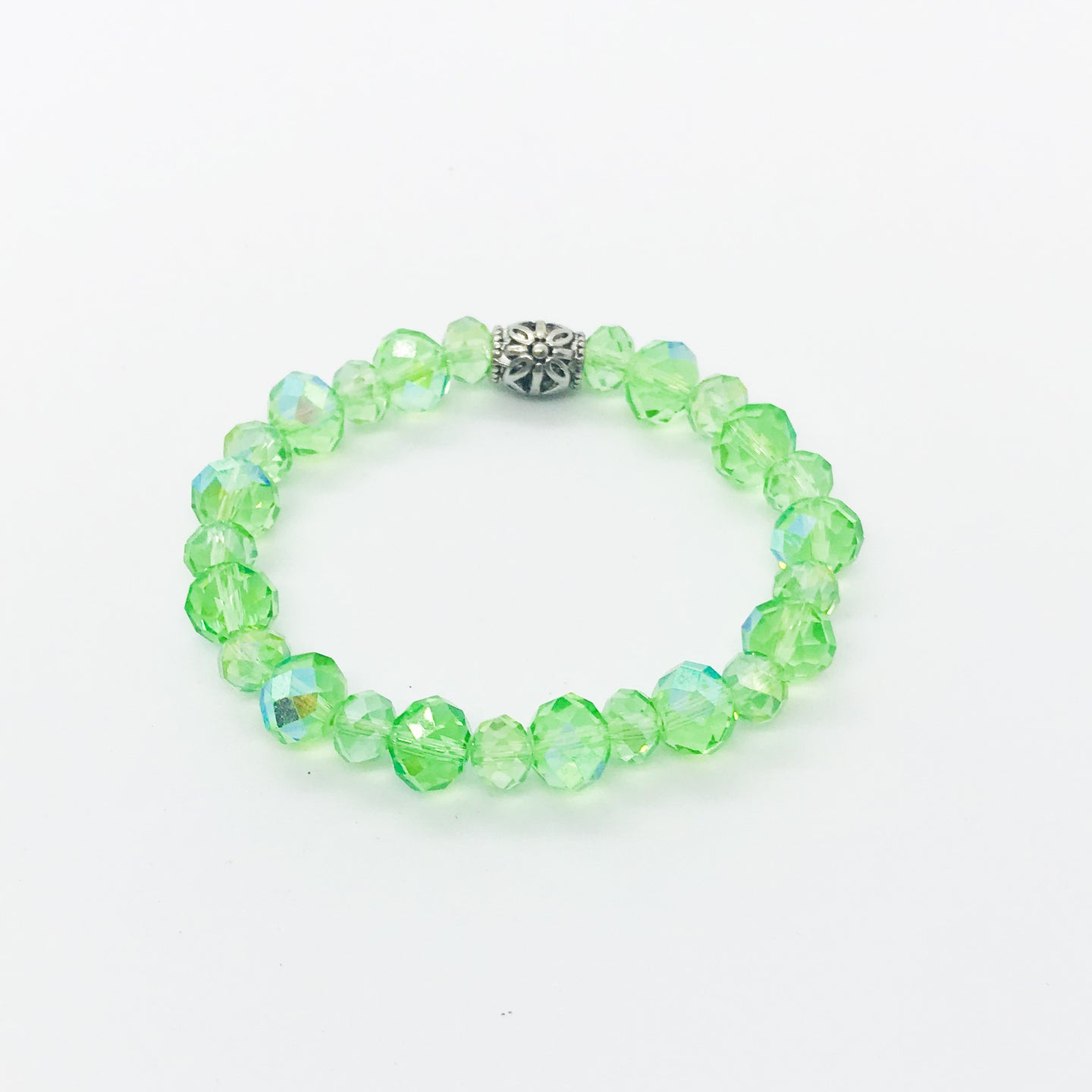 Glass Bead Stretchy Bracelet - B819