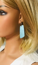 Load image into Gallery viewer, Turquoise Cork Leather Earrings - E19-825