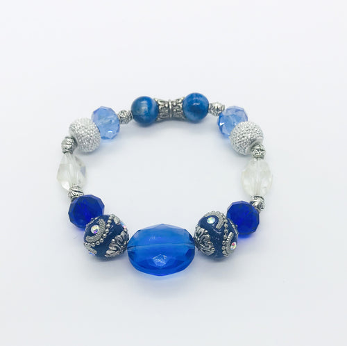 Big & Bold Collection Glass Bead Bracelet - B827
