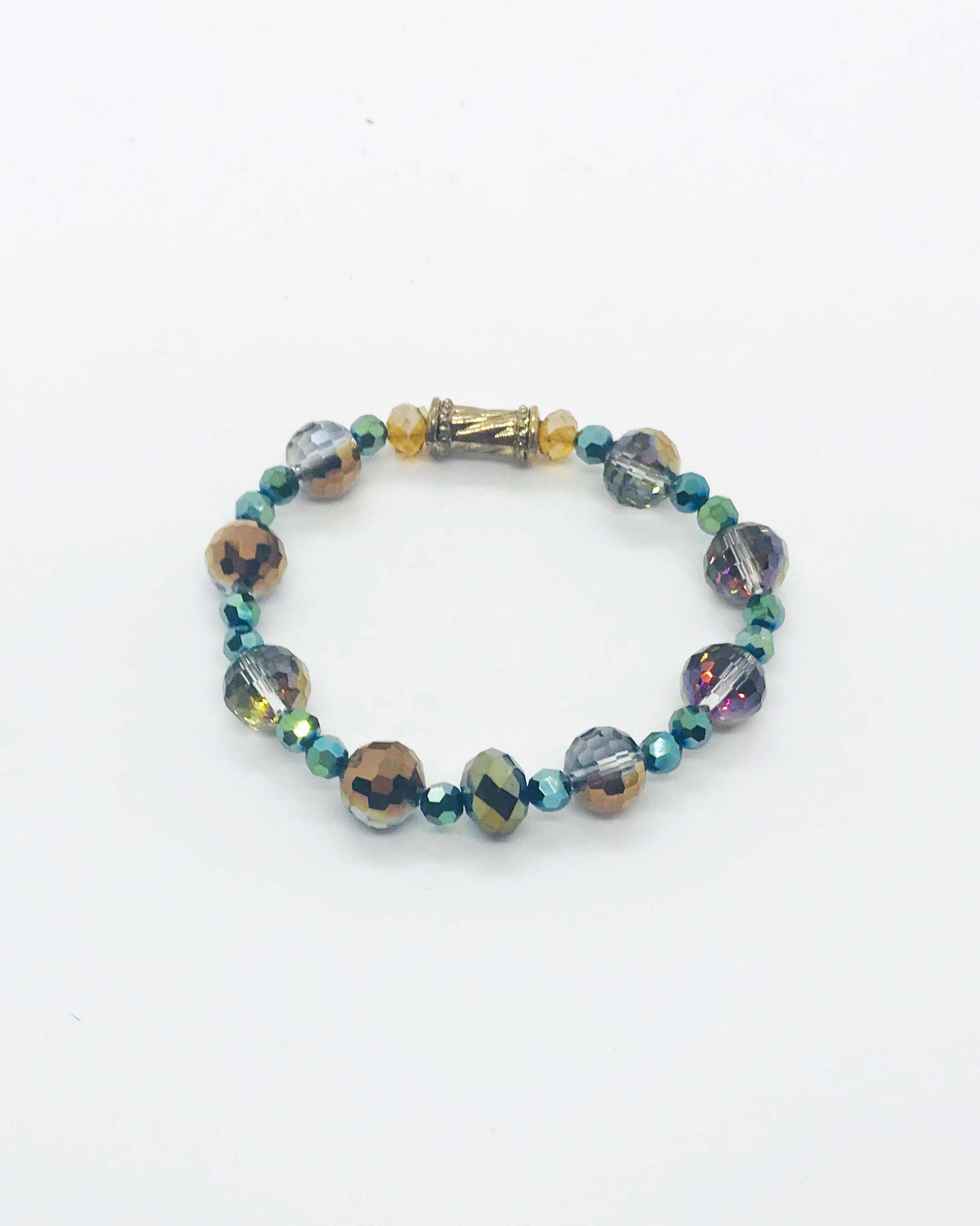 Glass Bead Stretchy Bracelet - B830