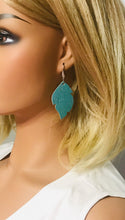 Load image into Gallery viewer, Turquoise Cork Leather Earrings - E19-832