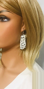 Black Cheetah Genuine Cork Leather Earrings - E19-839