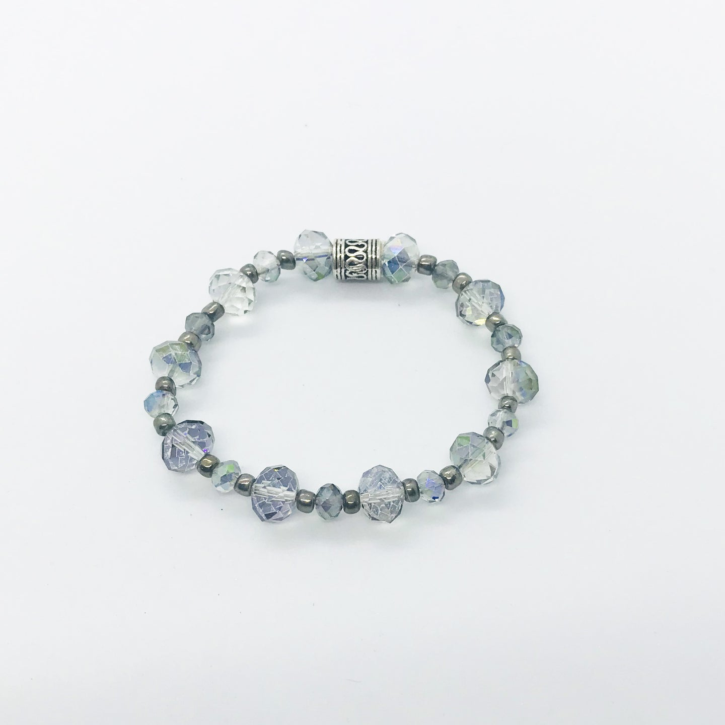 Glass Bead Stretchy Bracelet - B839