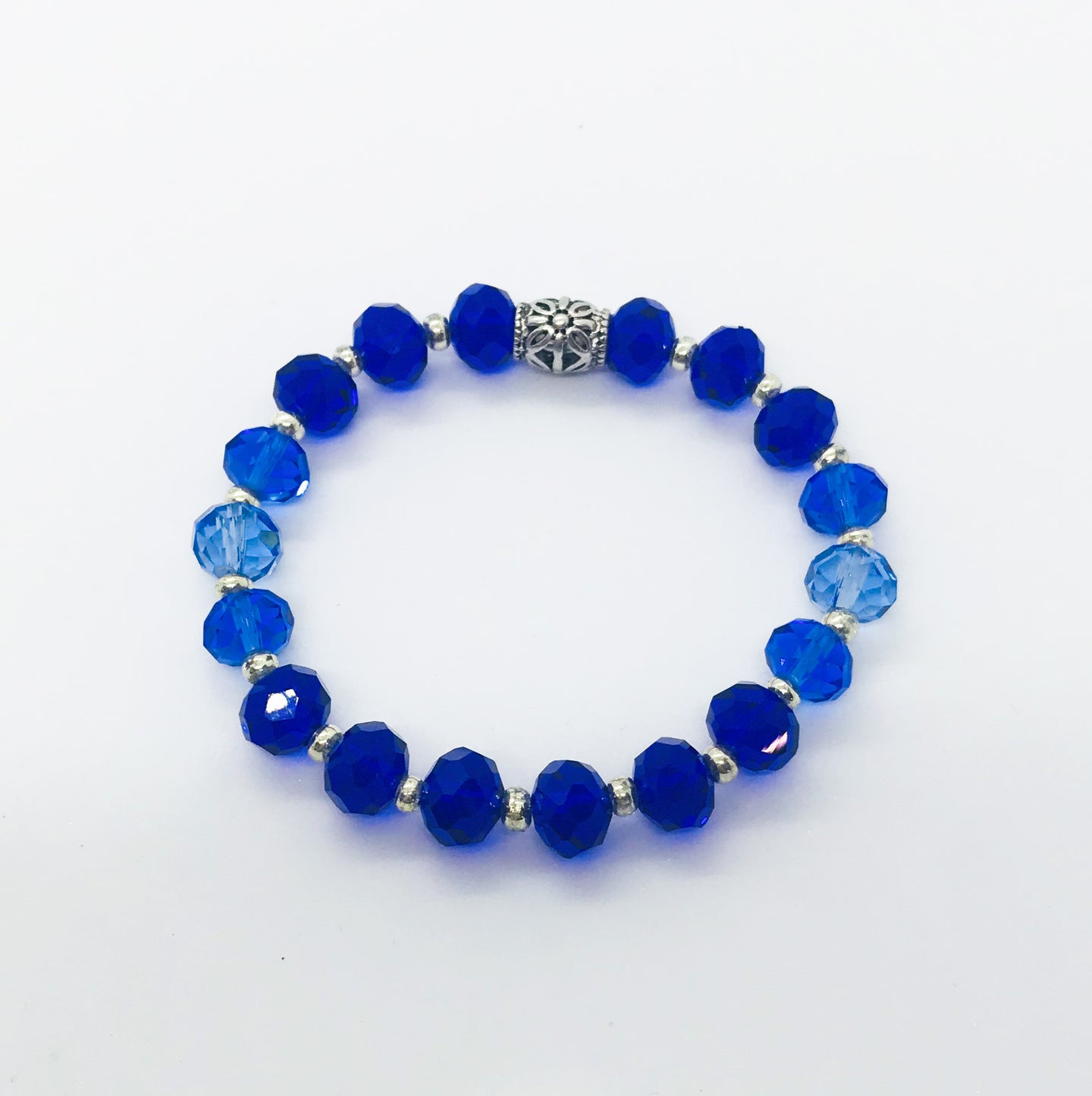 Glass Bead Stretchy Bracelet - B851
