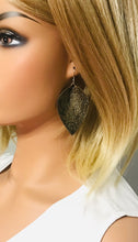 Load image into Gallery viewer, Genuine Embossed Leather Earrings - E19-854