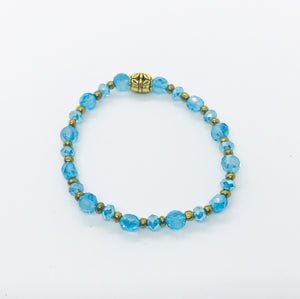 Glass Bead Stretchy Bracelet - B855