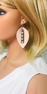 Pink Genuine Leather Earrings - E19-855