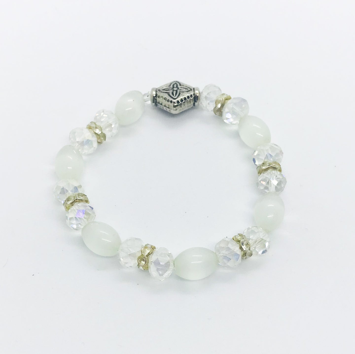 Glass Bead Stretchy Bracelet - B858