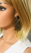 Load image into Gallery viewer, Genuine Embossed Leather Earrings - E19-867