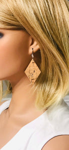 Silver Speckled Cork Earrings - E19-870