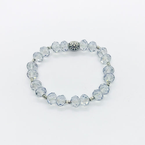 Glass Bead Stretchy Bracelet - B872