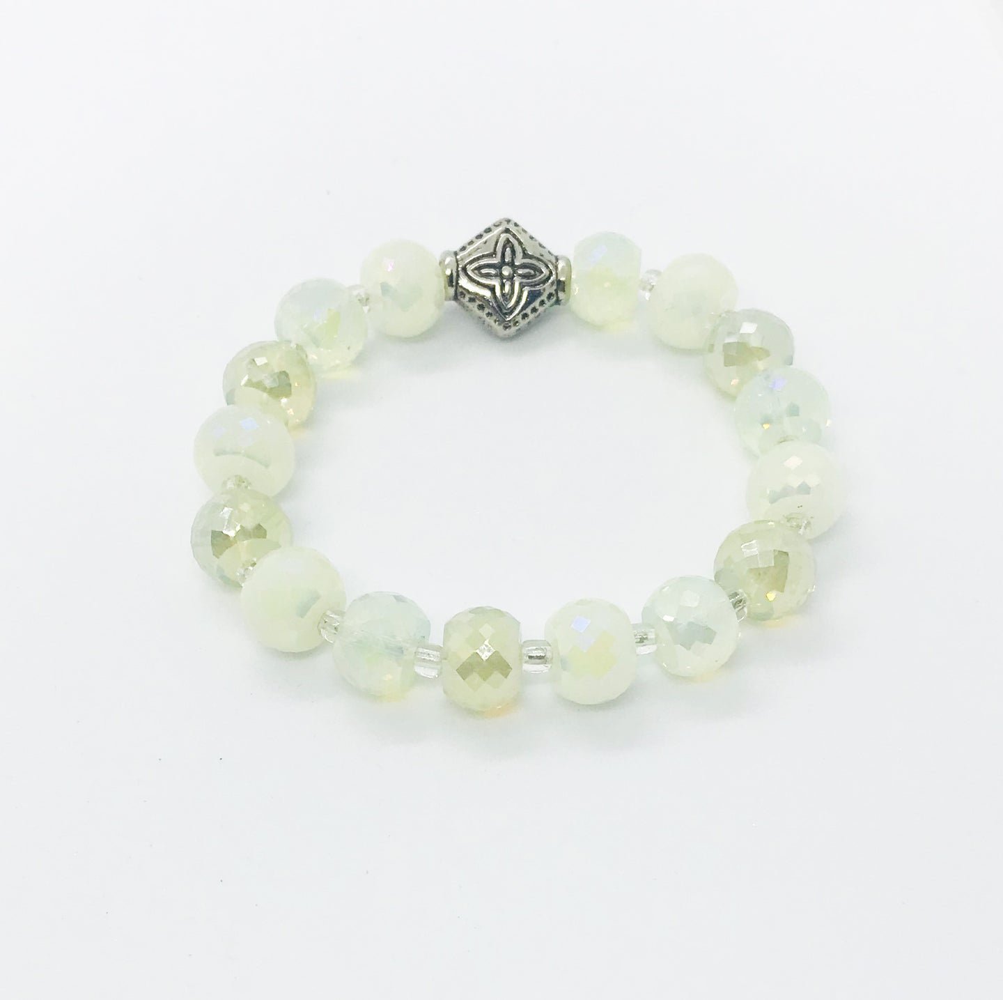 Glass Bead Stretchy Bracelet - B873
