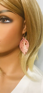 Rose Gold Python Snake Leather Earrings - E19-873