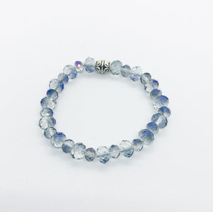 Glass Bead Stretchy Bracelet - B875