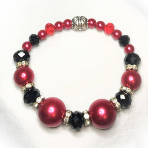 Glass Bead Stretchy Bracelet - B585