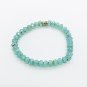 Glass Bead Stretchy Bracelet - B879