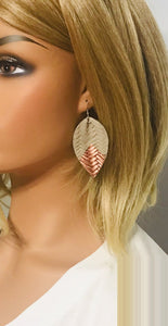 Italian Fishtail Leather Earrings - E19-886
