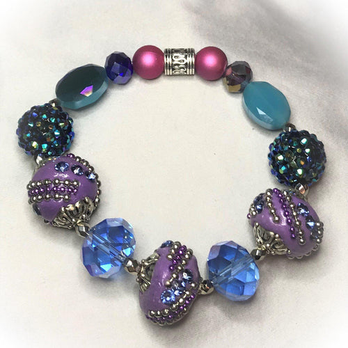Big & Bold Collection Glass Bead Bracelet - B527
