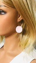 Load image into Gallery viewer, Pink Genuine Leather Hoop Earrings - E19-901