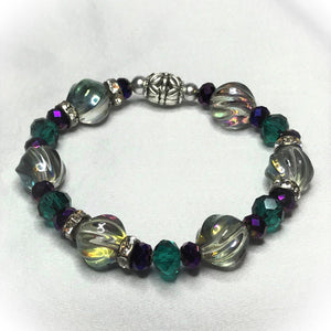 Glass Bead Stretchy Bracelet - B579