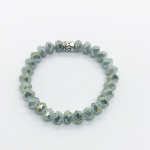Glass Bead Stretchy Bracelet - B906