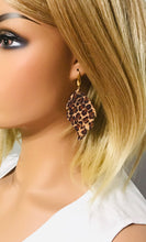 Load image into Gallery viewer, Baby Cheetah Genuine Cork Leather Earrings - E19-907
