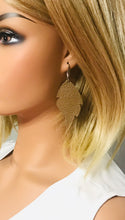 Load image into Gallery viewer, Brown Genuine Leather Earrings - E19-918