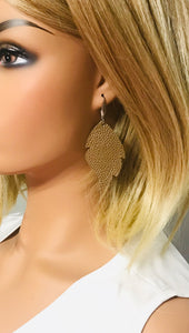 Brown Genuine Leather Earrings - E19-918