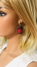 Load image into Gallery viewer, Buffalo Plaid Leather Earrings - E19-927
